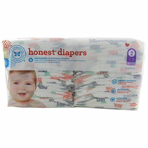 The Honest Company Disposable Diapers - Giraffe - Size 2 - 40 ct - 1