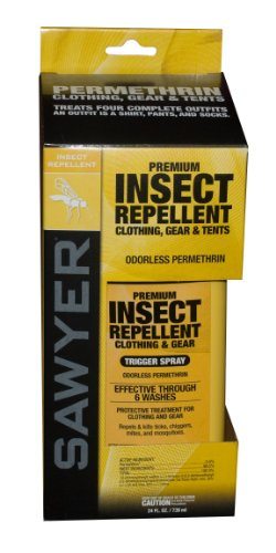 Sawyer SP657 Permethrin Premium Insect Clothing Repellent, 24-Ounce Spray