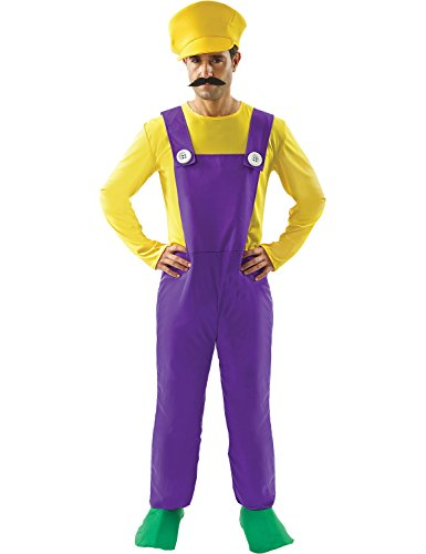 Adult Wario Super Mario Bad Plumber Cosplay Halloween Costume Outfit