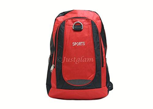 JustGlam - Zaino borsa da viaggio porta notebook leggero e pieghevole compatible voli low cost art 220-3 / rosso