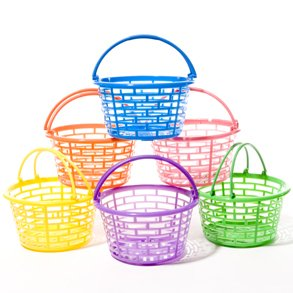 Buy Bright Round Plastic Baskets