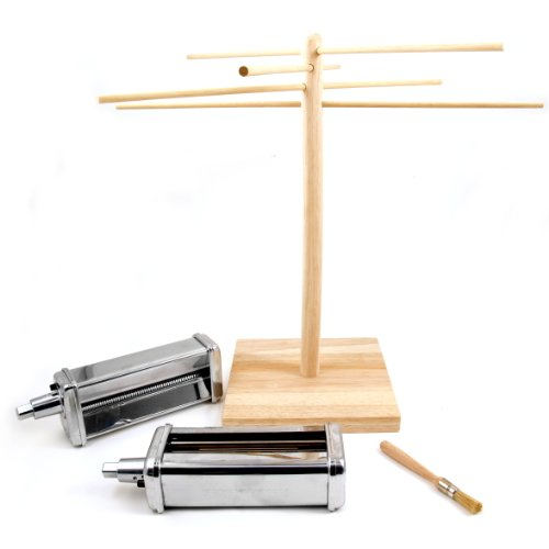 KitchenAid 2 Piece Pasta Cutter Attachment Set with Free Pasta Drying Rack (Kpca Kitchenaid compare prices)