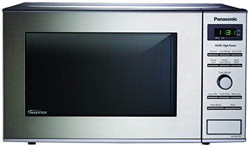 Panasonic NN-SD372S Stainless 950W 0.8 Cu. Ft. Countertop Microwave with Inverter Technology (Microwave Oven Small compare prices)