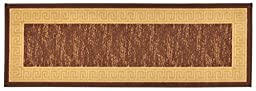 Meander Design Printed Slip Resistant Rubber Back Latex Runner Rug and Area Rugs 5 Color Options Available (Brown, 1\'8\