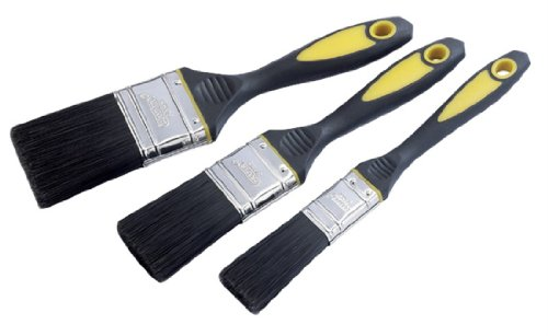 Draper DIY Series 09259 3-Piece Soft-Grip Paintbrush Set