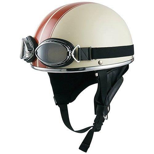 ビンテージヘルメット アイボリーブラウン 013010838