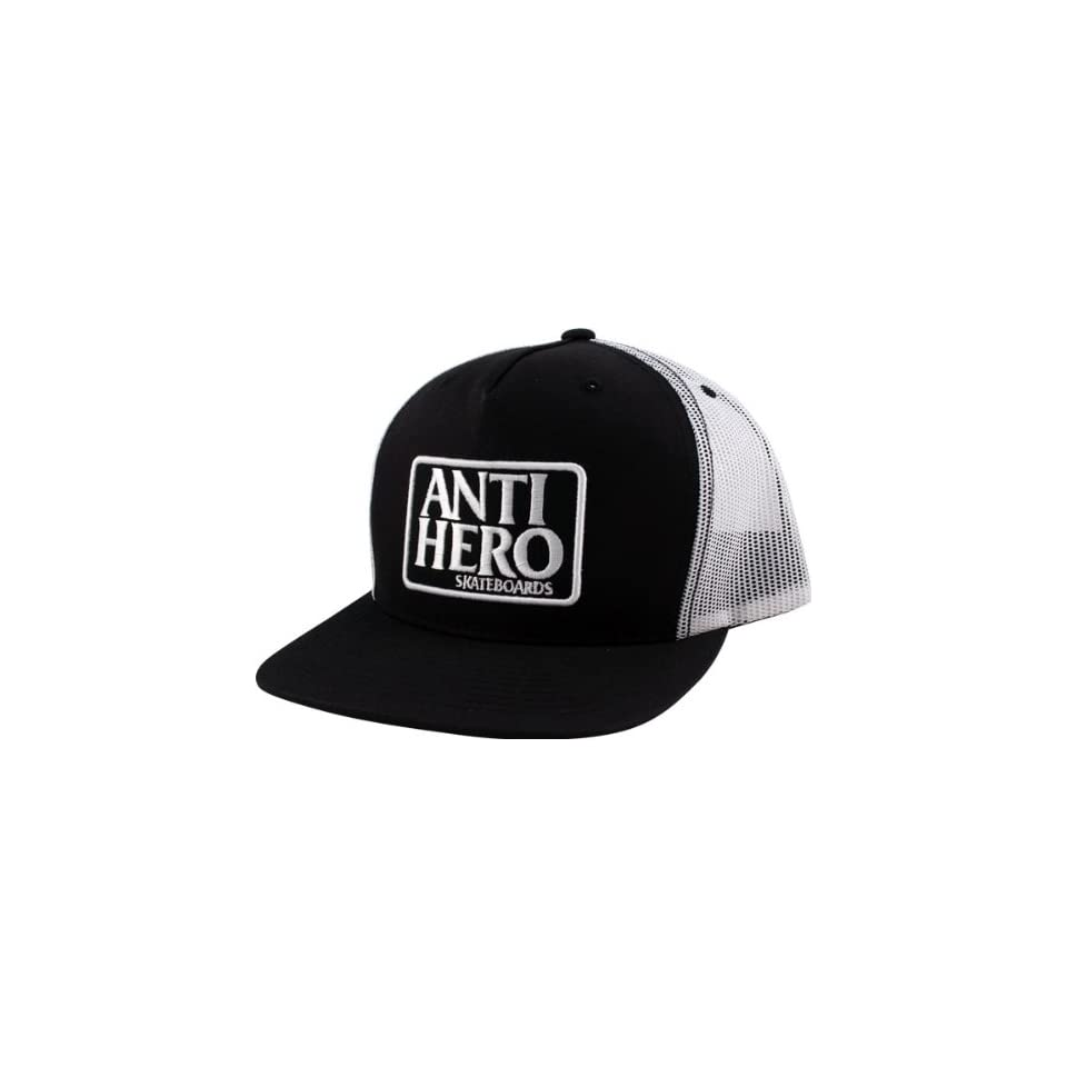 393d5ef2787 Anti Hero Reserve Mesh Hat Adjustable Black White Skate Hats on ...