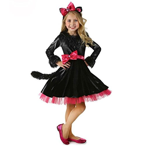 Rose Candy Trens Costumes Girl Cat Clothes Halloween Cosplay Dress