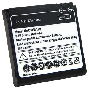 HTC® 1000 mAh Slim Extended Battery for HTC Touch Diamond