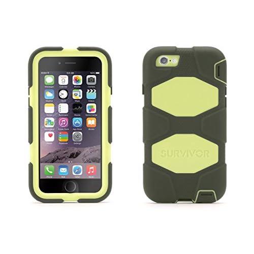 【日本正規代理店品】 Griffin Technology iPhone 6(4.7インチ) SURVIVOR 防塵・防滴対応 耐落下衝撃1.8M オリーブ/ブラック GB40567