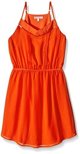 ella-moss-slim-girls-sleeveless-elastic-waist-pleated-dress-orange-14