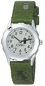 Esprit Jungen-Armbanduhr Grafitti Green Analog Quarz Nylon ES105224010