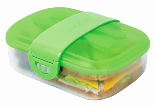 9 Piece Design Click Locktm Bento Mealtime Lunch Container Set (Green) front-679814
