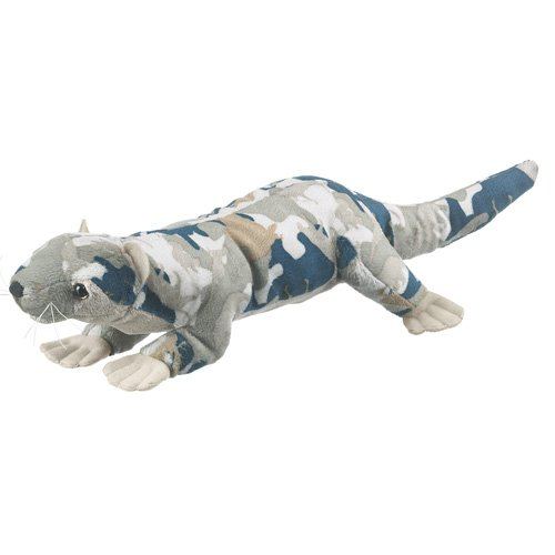 Wildlife Artists Camo Wild Zoo River Otter in a Unique Animal Camo Zoo Plush Stuffed Animal - 1