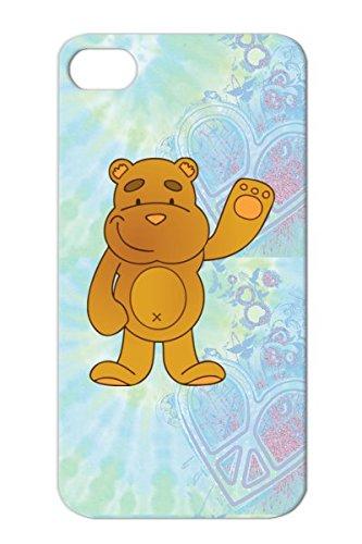 Shatterproof Plush Cartoon Child Bear Figure Funny Animal Baby Teddy Bears Blanket Orange For Iphone 4S Teddy Bear Protective Hard Case front-770011