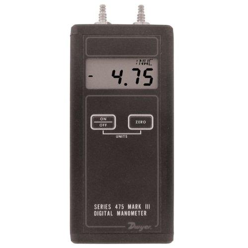 "Dwyer® Diff Pr Digital Manometer Handheld, 475-1-Fm, Fm Approved, 0-20"" W.C."