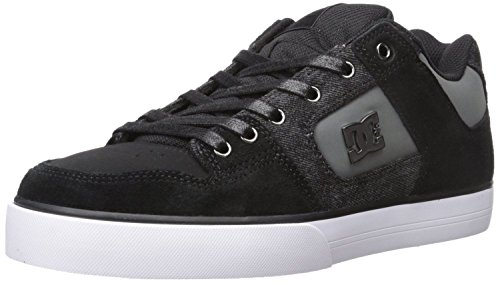 dc-pure-se-black-grey-white-leather-mens-skate-trainers-shoes-9