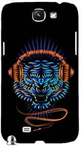 Timpax Protective Hard Back Case Cover With Easy access to all ports Printed Design : Music is my hobby.Compatible with Samsung Galaxy Note 2
