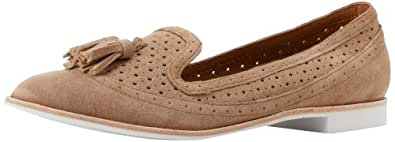 DV by Dolce Vita Women's Macao Loafer,Taupe Suede,6.5 M US