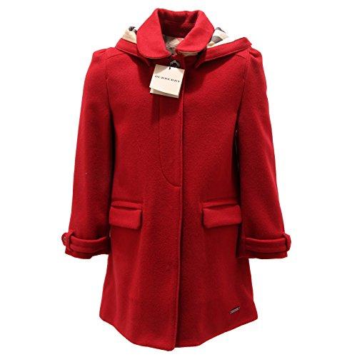 5881P cappotto rosso bimba BURBERRY capo spalla girl coat [4 YEARS]