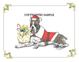 Boxer - Christmas Design by Cindy Farmer