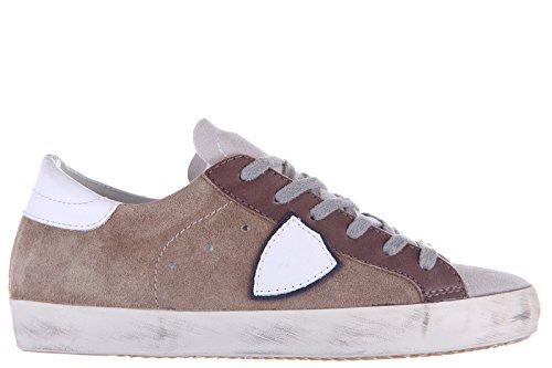 Philippe Model scarpe sneakers uomo camoscio nuove mixage grigio EU 41 CLLU XS03