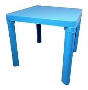 Table de jardin en plastique pour enfant bleu for Peinture pour table plastique
