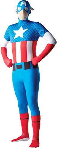Rubie's Costume Men's Marvel Universe Captain America Adult 2Nd Skin Costume, Multi, Large (Captain America Morphsuit compare prices)