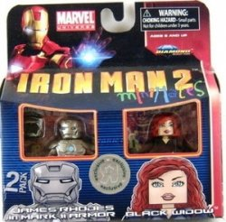 アイアンマン 2 Movie Minimates フィギュア James Rhodes in Mark II Armor & Black Widow 131002fnp [並行輸入品]