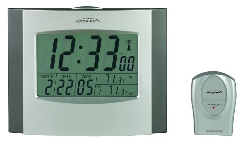 Buy Chaney Instrument Wireless Atomix Clock and Thermometer w/ Sensor