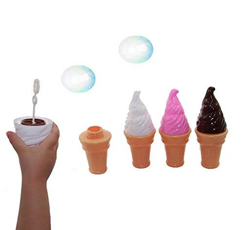 Dazzling Toys Yummy Ice Cream Bubbles Contains Bubble Solution 4 Pack.