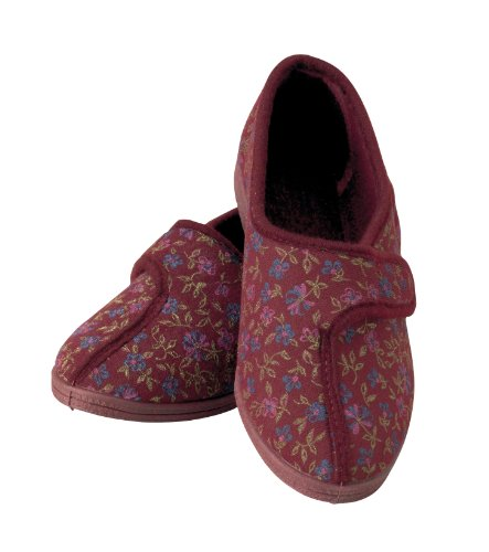 homecraft-patterned-slippers-for-ladies-size-4-red