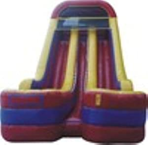 Dry Slide Inflatable 24 Feet High Double Bay Includes Two 1.5 Hp Blowers