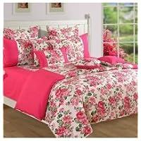 Swayam Shades N More Printed Cotton Single AC Comforter - Pink (ACS 11-1428)