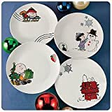 PEANUTS Christmas Holiday Scenes Plate Collection - Ceramic (Set of 4)