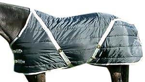 High Spirit Snuggie Stable Blanket, 70-Inch, Black/Silver