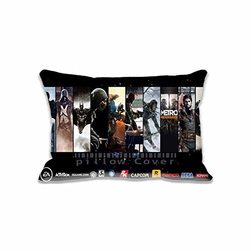 I Am a Gamer Standard Pillow case/Copricuscini e federe,Creative Accent Pillow Covers Zippered Pillow Protector