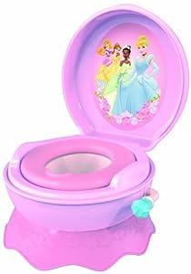 The First Years Y9401 - Disney Princess Töpfchen, mit Geräusch Das 3-in-1Toiletten-Trainersystem mit bezauberndem Disney Princess Design fungiert als Töpfchen, Toilettenaufsatz und Bänkchen