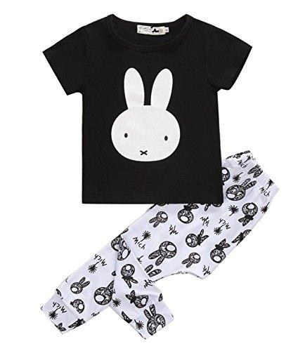 WenGan Bambino Ragazze Pesce Boss maglietta a maniche corte e pantaloni Set di abbigliamento casual tuta