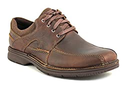 Clarks Men\'s Senner Blvd Oxford,Brown Tumbled Leather,11.5MUS