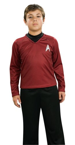 Star Trek Movie Child'S Deluxe Red Shirt Costume With Dickie, Pants With Attached Boot Tops And Emblem Pin, Small front-1018246