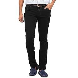 Stylox Slim Fit Black Jeans