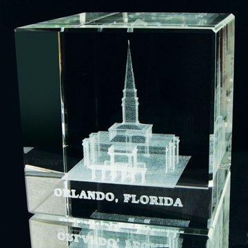 Orlando Temple Crystal Cube