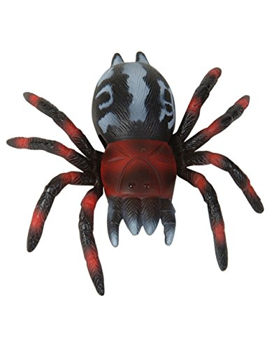 "Adventure Planet 4"" Black Red Grey Gray Sticky Wall Walking Toy Spider"