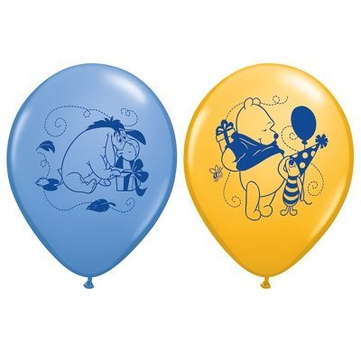 Winnie the Pooh Happy Birthday Latex Balloons (6) Party Supplies - 1