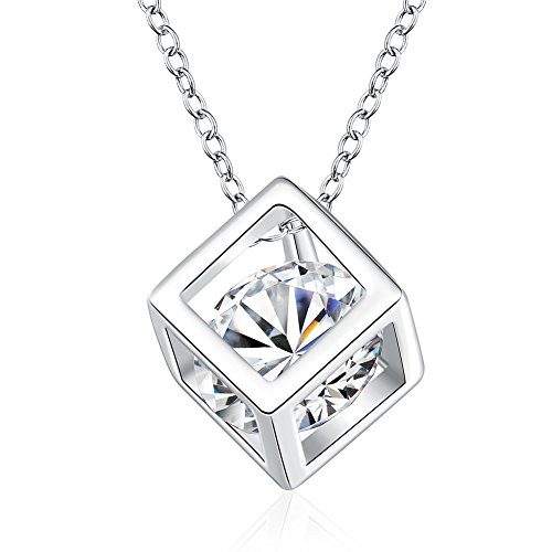 Sterling-Silver-Plated-Necklace-Pendant-with-Big-Shining-Cubic-Zirconia-In-the-Center
