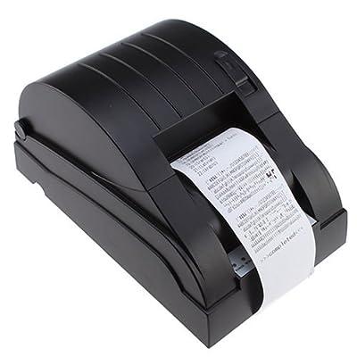 AGPtek® USB POS Printer with 58mm Thermal Paper Rolls - 90mm/sec High-speed Printing (Black)