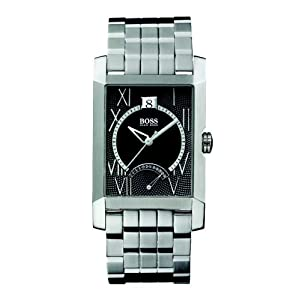 Hugo Boss Black Dial Stainless Steel Mens Watch HB1512005