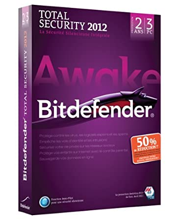 Bitdefender Total security 2012 (3 postes, 2 ans) (offre d'attachement)