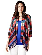 Per Una Abstract Print Wrap Top with Camisole